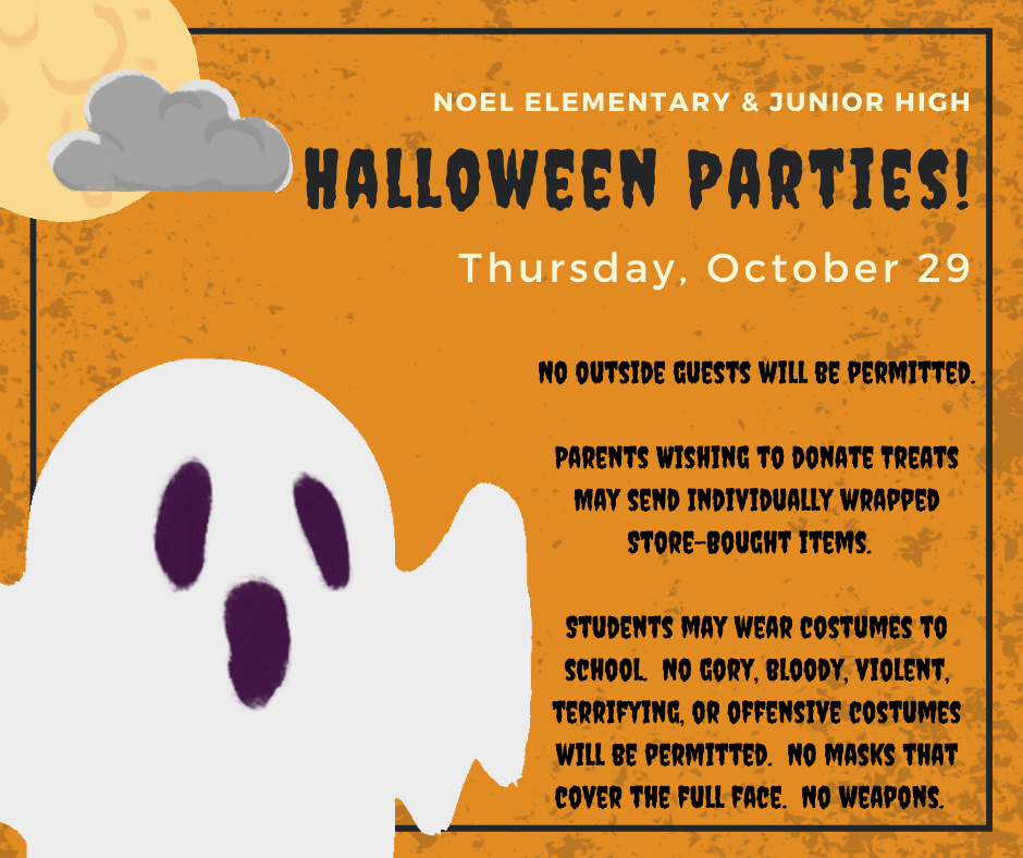Halloween party notice