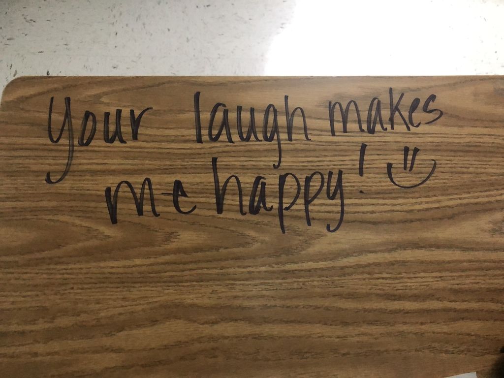 Kindness message on a desk